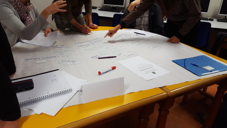Atelier d'intelligence collective avec les stagiaires du BPREA